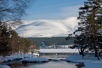 Aviemore in winter, Scotland