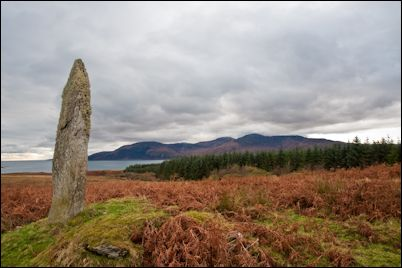 Standing stone on Isle of Jura, Scotland