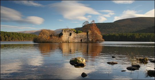 Lochindorb castle ruins, Cairngorms, Scotland