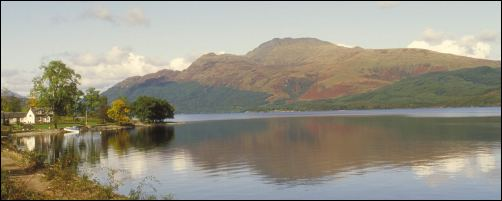 photo of Loch Lomond and Ben Lomond