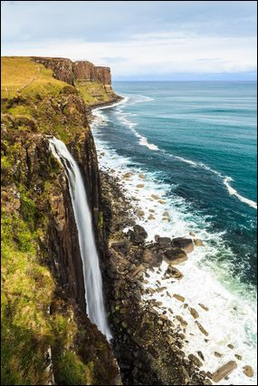 Kilt Rock and waterfall, Isle of Skye  photo